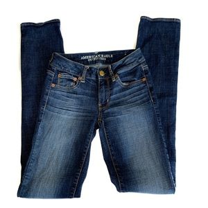 American Eagle Jeans Straight Super Stretch X-Long